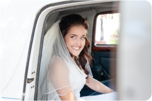 Bride in Vintage car